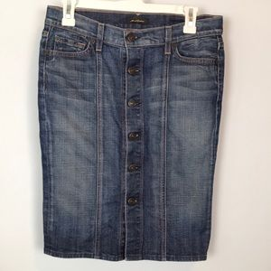 7 for All Mankind Jean Pencil Skirt Size 27
